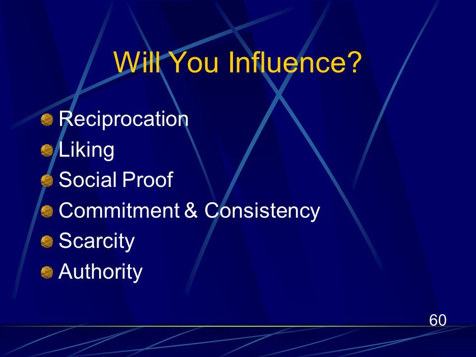 60 Will You Influence.
