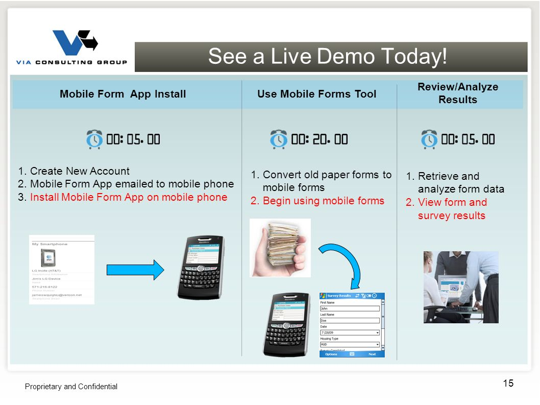 See a Live Demo Today. Proprietary and Confidential 15 1.