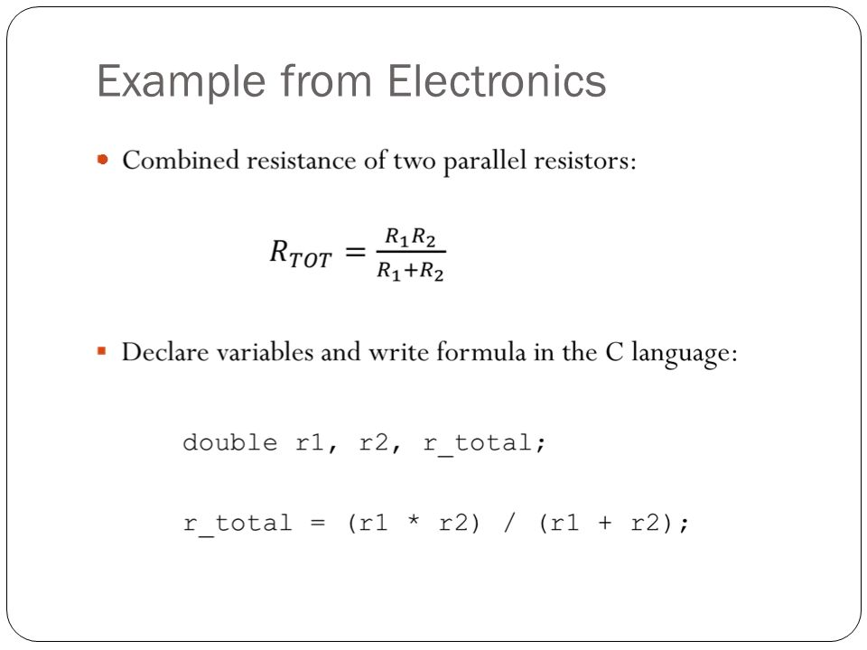 Example from Electronics