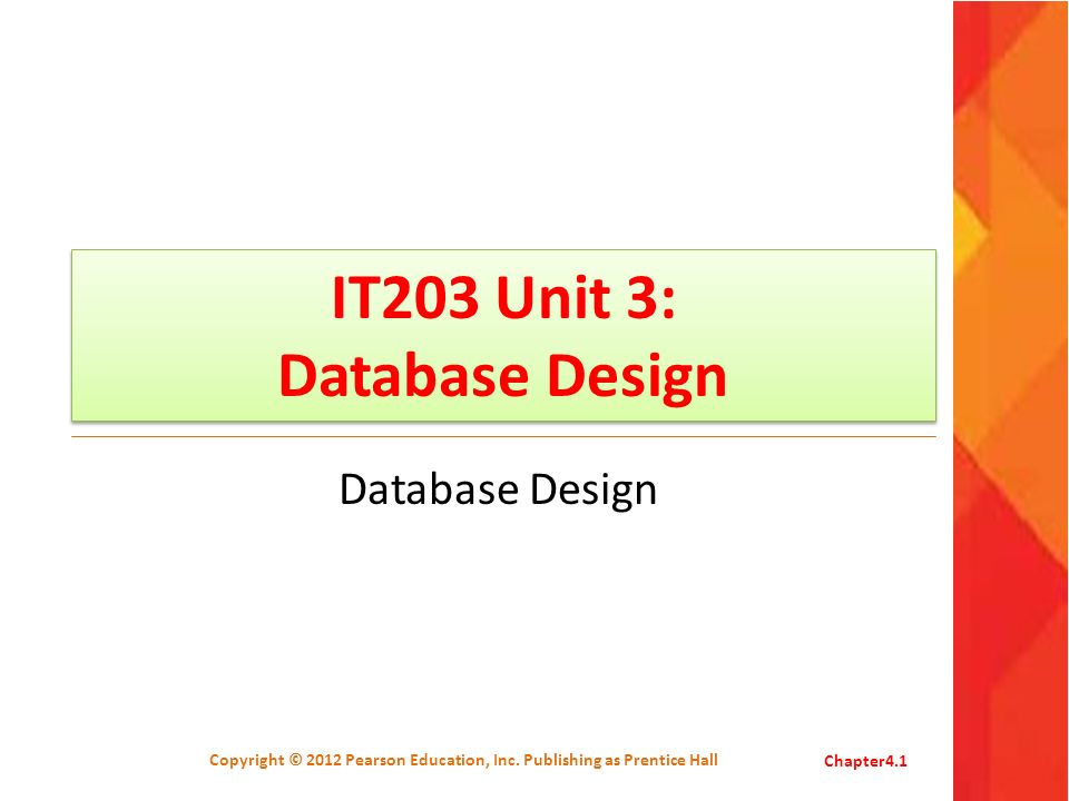Logical Design Logical design is the entity design without regard to a Relational Database Management System.