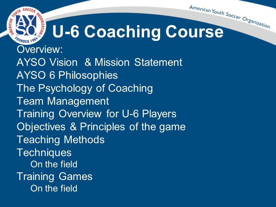U-6 Objectives of the Game Objectives is defined in the Dictionary as: A goal or purpose.