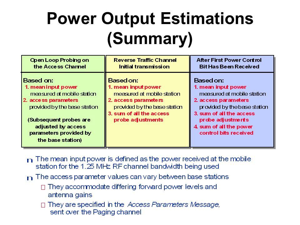Summary of All Power Control Mechanisms