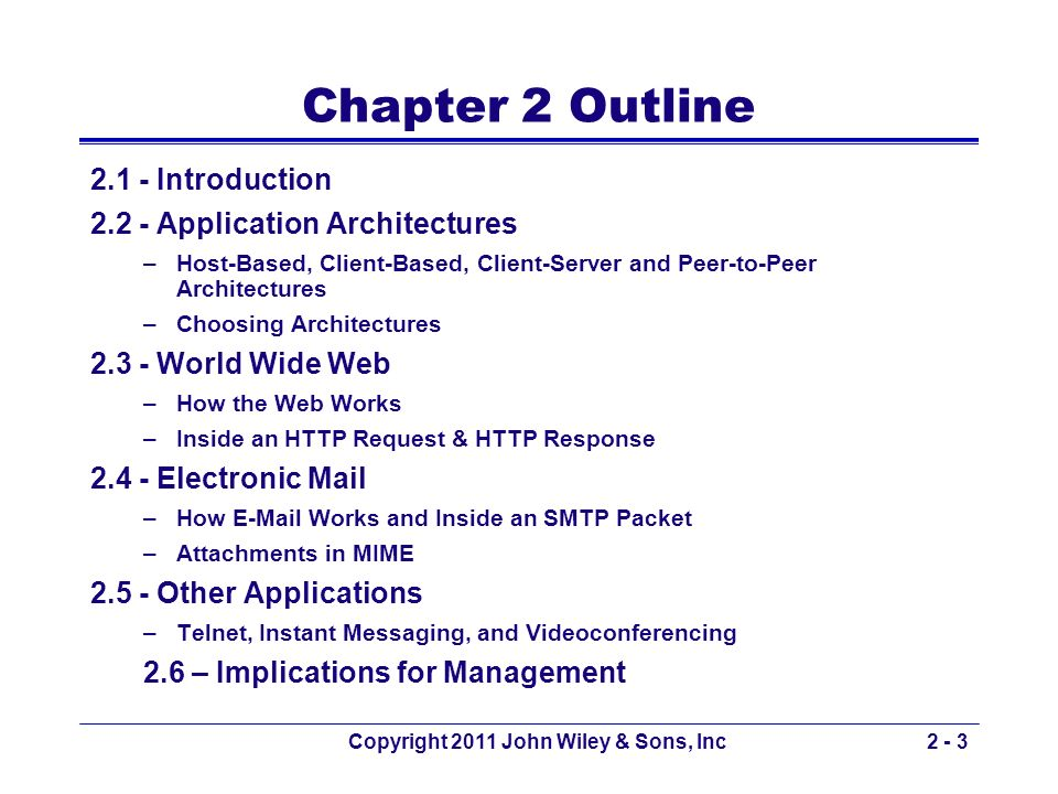 Copyright 2011 John Wiley & Sons, Inc2 - 44 How Instant Messaging Works