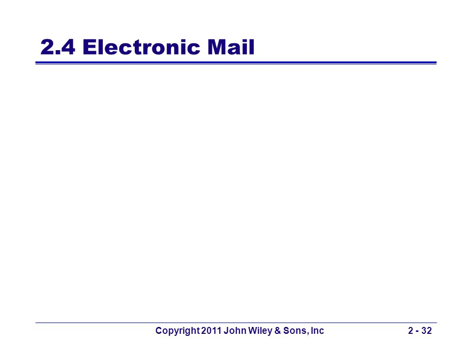 2.4 Electronic Mail Copyright 2011 John Wiley & Sons, Inc2 - 32