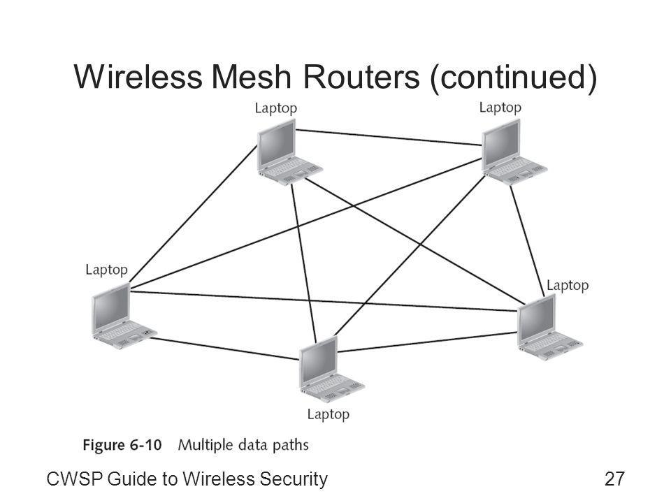 CWSP Guide to Wireless Security27 Wireless Mesh Routers (continued)