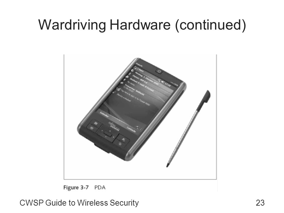 23CWSP Guide to Wireless Security Wardriving Hardware (continued)