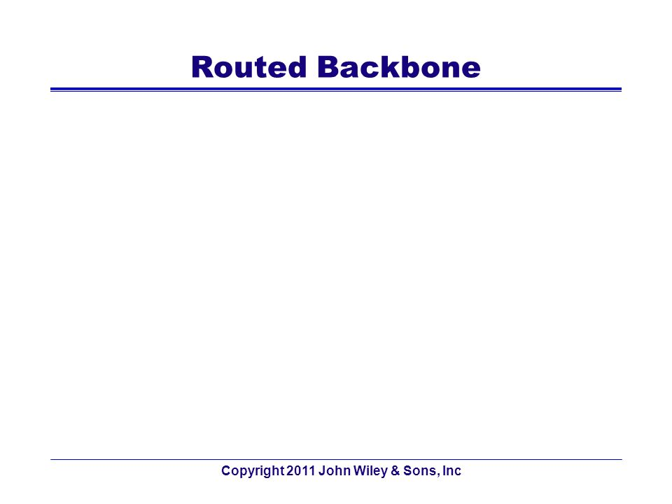 Routed Backbone Copyright 2011 John Wiley & Sons, Inc