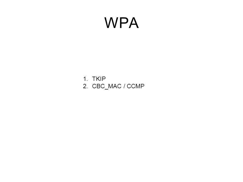 WPA 1.TKIP 2.CBC_MAC / CCMP