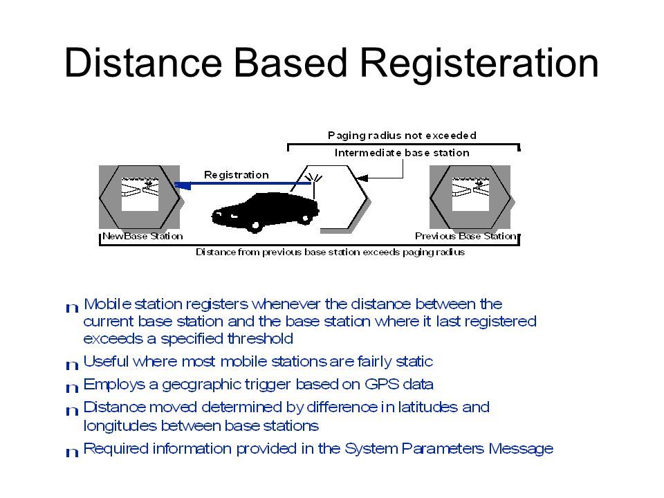 Distance Based Registeration