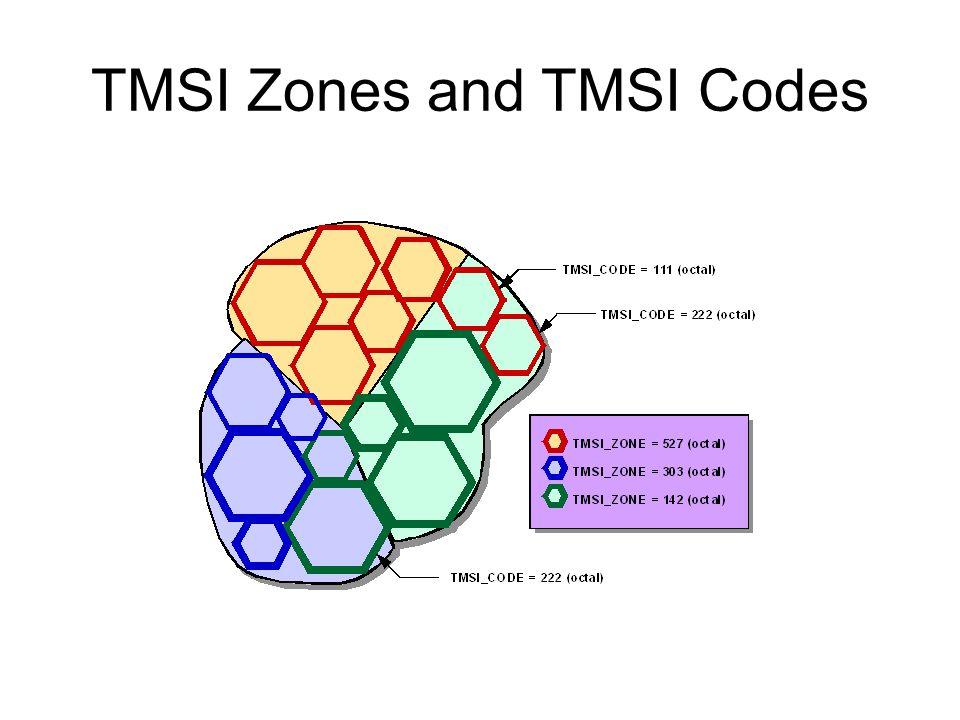 TMSI Zones and TMSI Codes