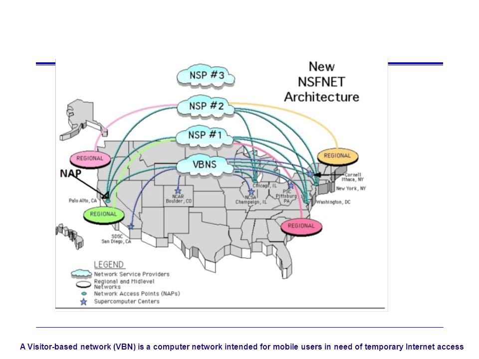 A Visitor-based network (VBN) is a computer network intended for mobile users in need of temporary Internet access