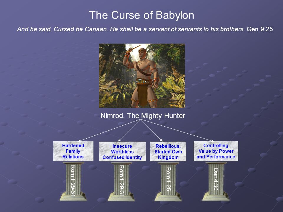The Curse of Babylon And he said, Cursed be Canaan.