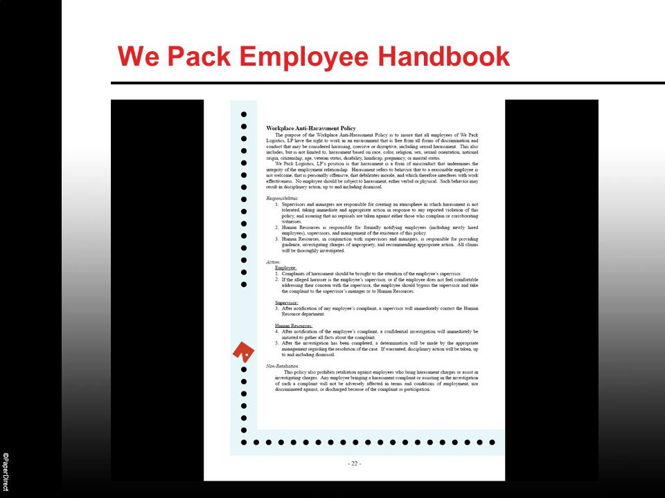 ©PaperDirect We Pack Employee Handbook