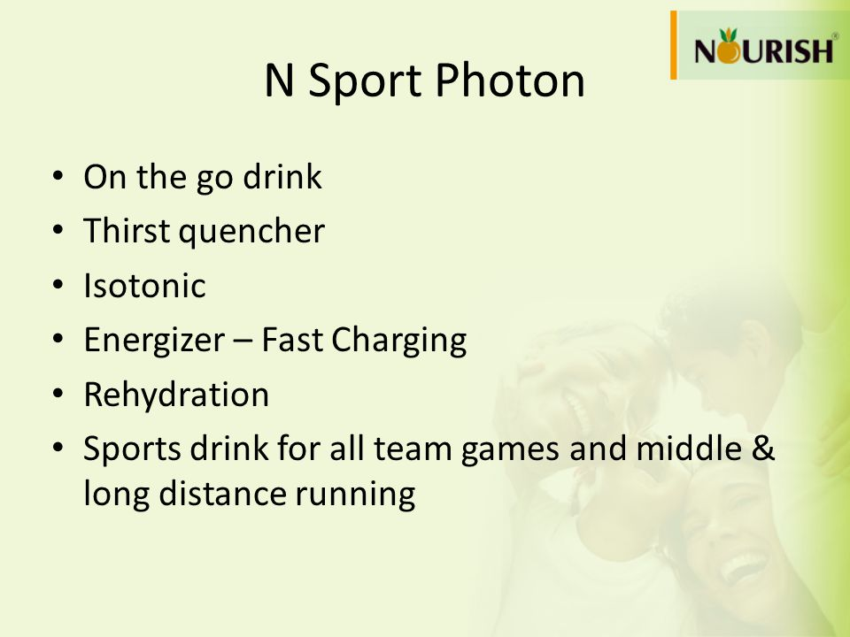 N Sport Photon On the go drink Thirst quencher Isotonic Energizer – Fast Charging Rehydration Sports drink for all team games and middle & long distan