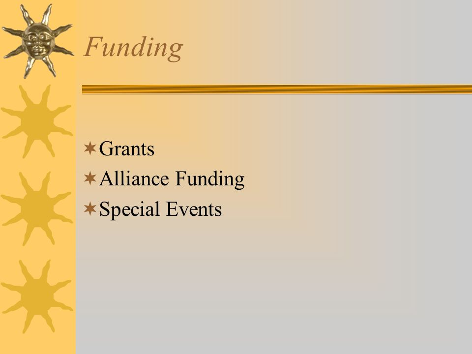 Funding Grants Alliance Funding Special Events