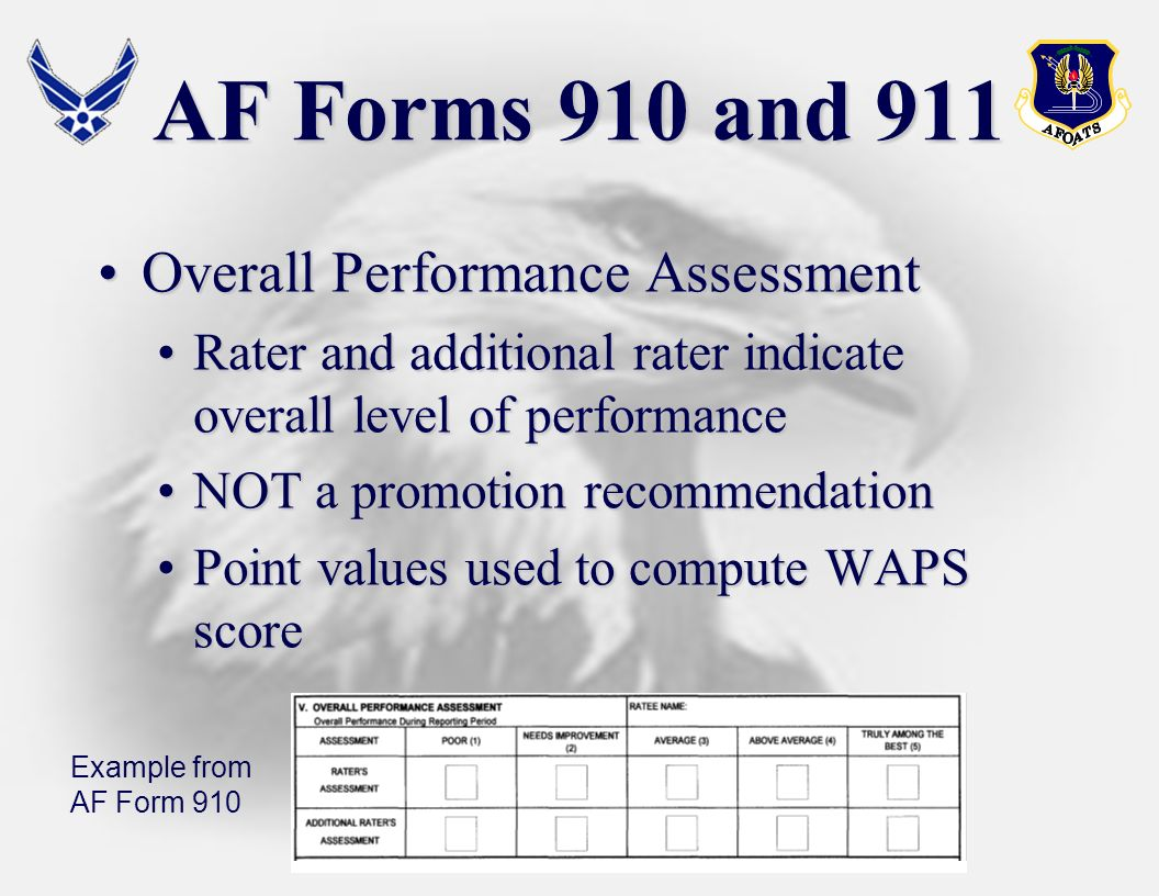 Overall Performance AssessmentOverall Performance Assessment Rater and additional rater indicate overall level of performanceRater and additional rate