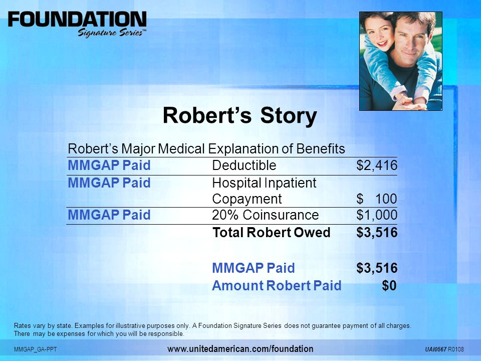 MMGAP_GA-PPT UAI0567 R0108 www.unitedamerican.com/foundation Rates vary by state. Examples for illustrative purposes only. A Foundation Signature Seri