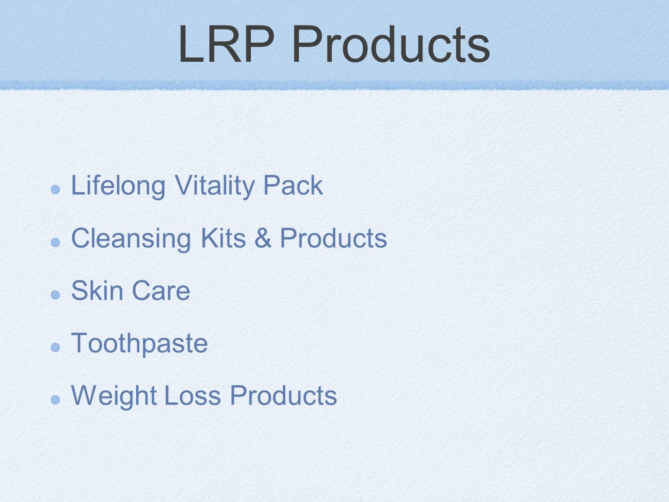 LRP Products Lifelong Vitality Pack Cleansing Kits & Products Skin Care Toothpaste Weight Loss Products