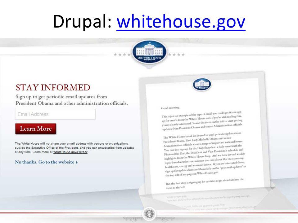 Drupal: whitehouse.govwhitehouse.gov