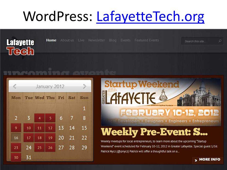 WordPress: LafayetteTech.orgLafayetteTech.org
