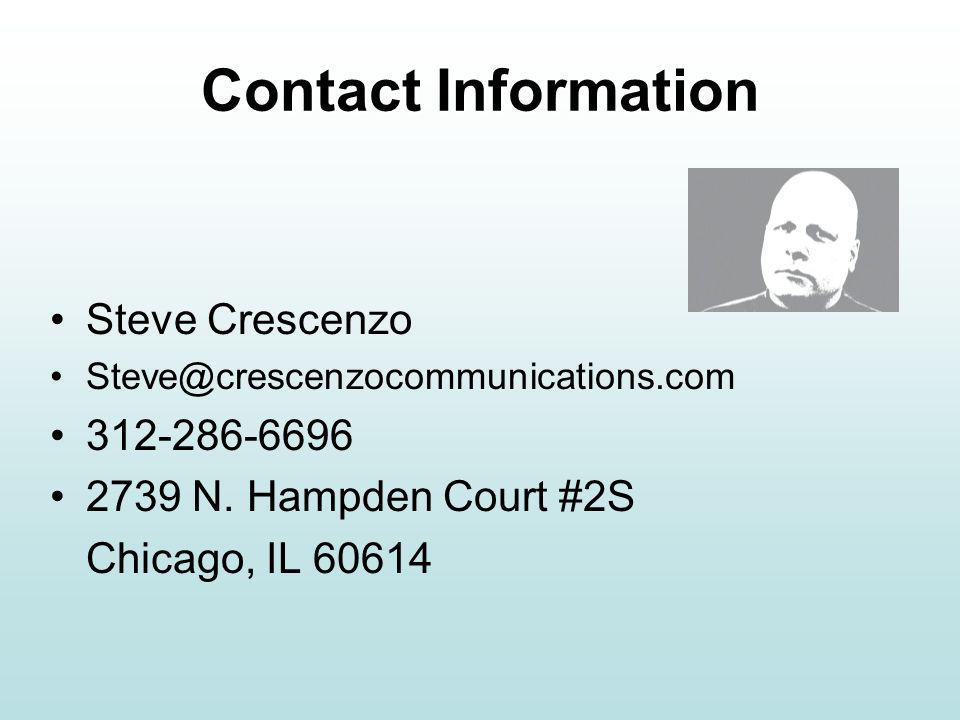 Contact Information Steve Crescenzo N.