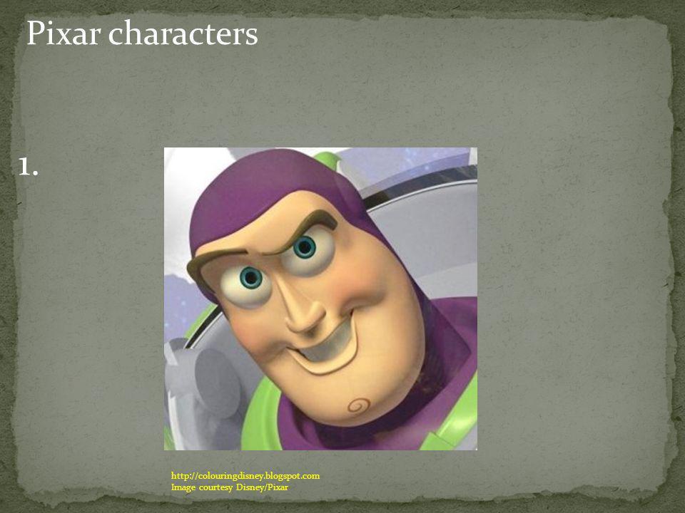 Pixar characters 1. http://colouringdisney.blogspot.com Image courtesy Disney/Pixar