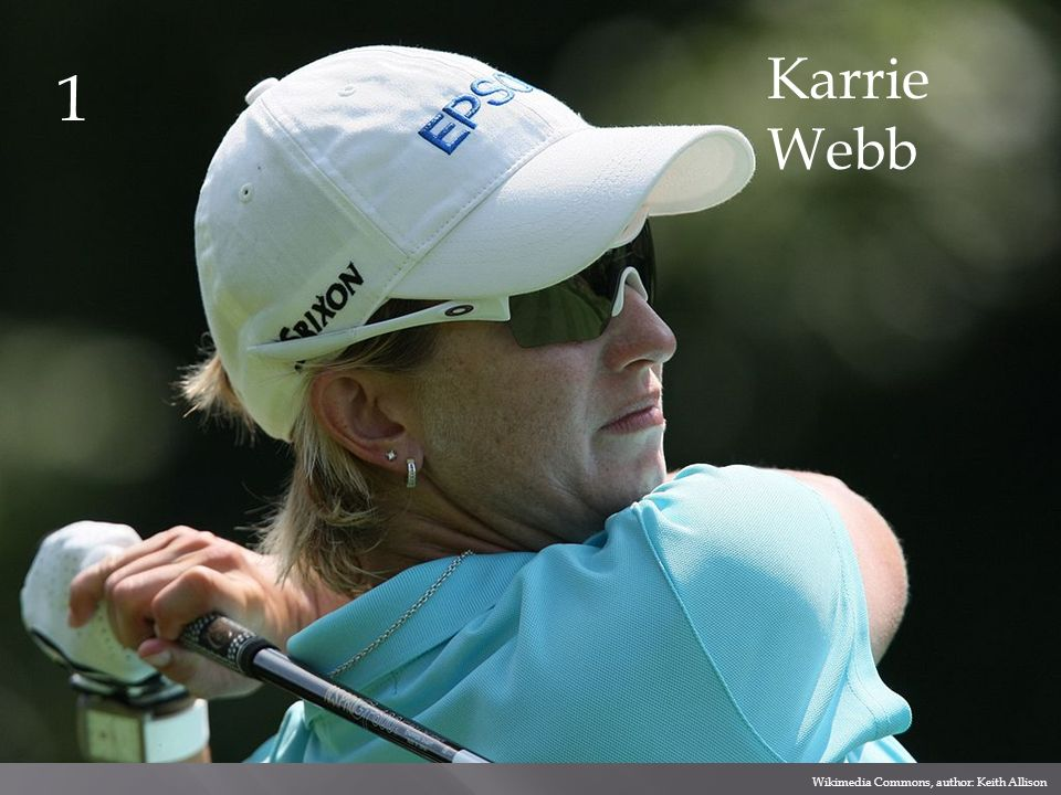 Karrie Webb 1 Wikimedia Commons, author: Keith Allison