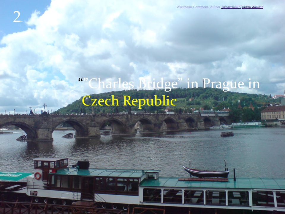 Charles Bridge in Prague in Czech Republic 2.2.Wikimedia Commons.