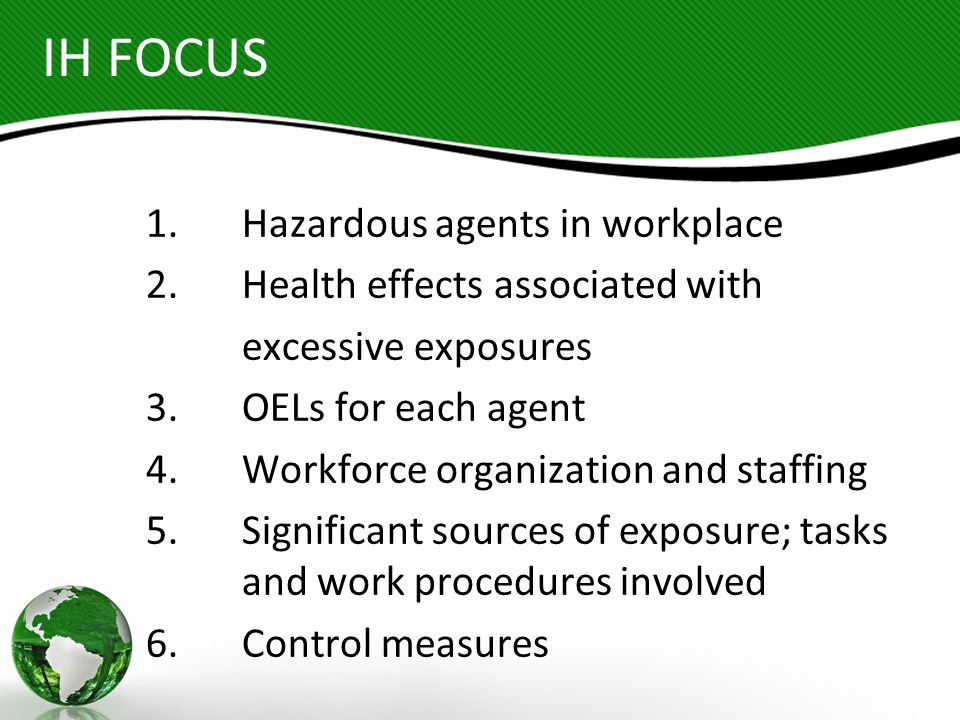 ADMINISTRATIVE CONTROLS Examples: Arranging work schedules and the related duration of exposure to limit employee exposures to health hazards.