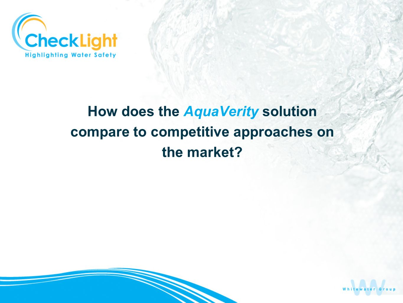How does the AquaVerity solution compare to competitive approaches on the market?