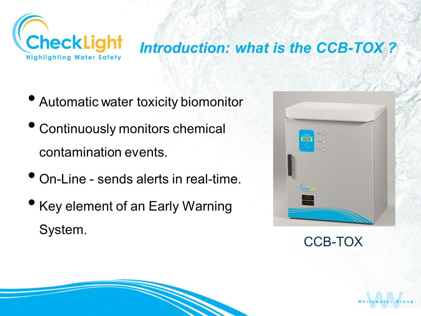 Introduction: what is the CCB-TOX .