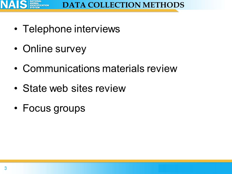2 OUTREACH PROGRAM REVIEW Initiated qualitative stakeholder analysis in June 2006 Purpose of Review –Identify existing tools and strategies –Identify best practices (i.e., whats working best) –Identify stakeholders awareness, attitudes, and perceptions