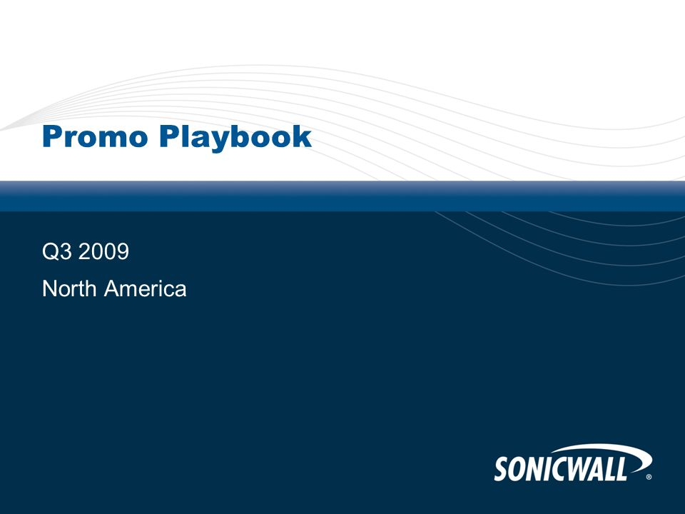 Promo Playbook Q3 2009 North America