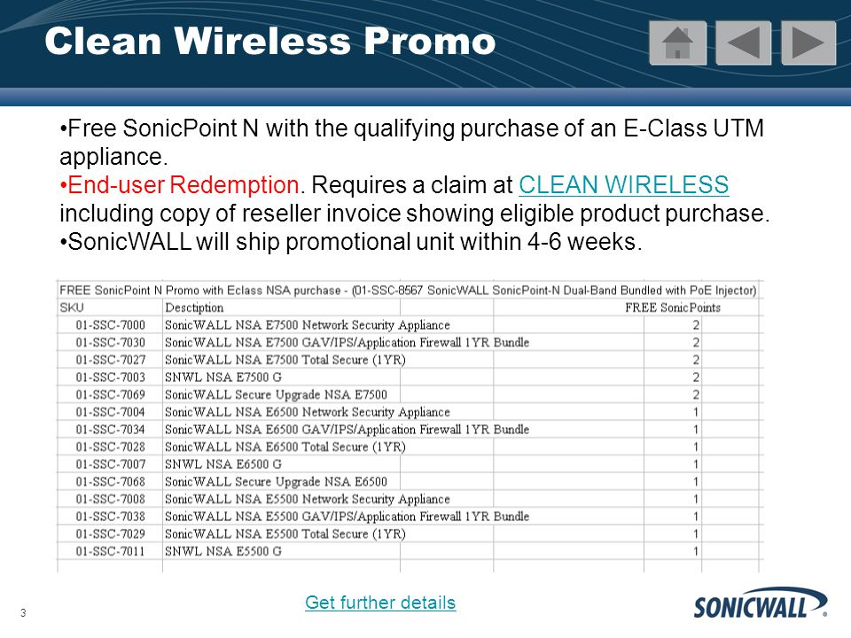 4 Clean Wireless Promo Details Offer available only on the specific product SKUs listed above.