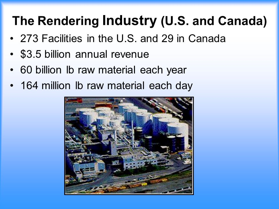 The Rendering Industry (U.S. and Canada) 273 Facilities in the U.S.