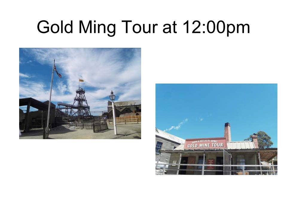 Gold Ming Tour at 12:00pm