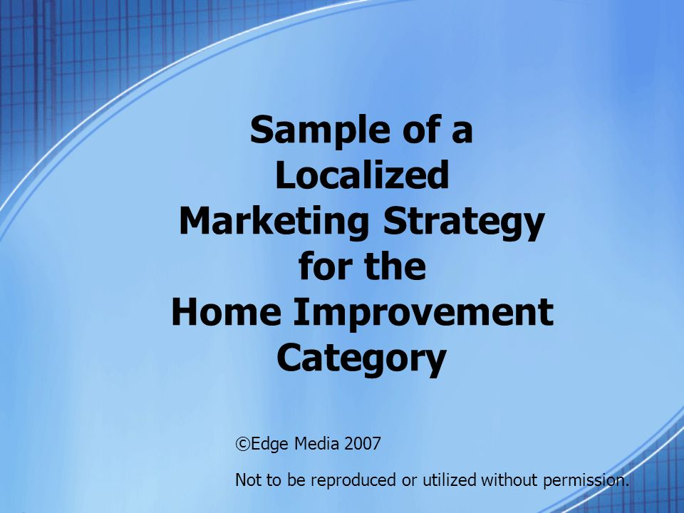 T-1 Marketing Overview Strategy & execution Begin with 35-64 age cell for conservative approach.
