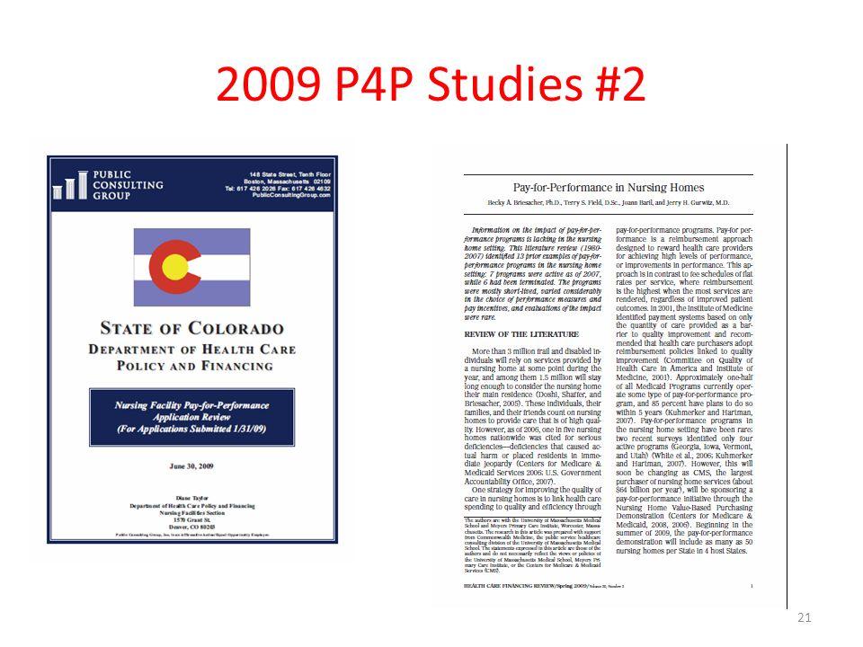 2009 P4P Studies #2 21