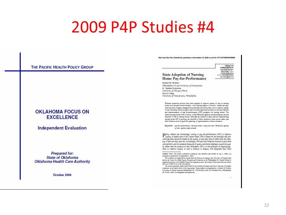 2009 P4P Studies #4 23