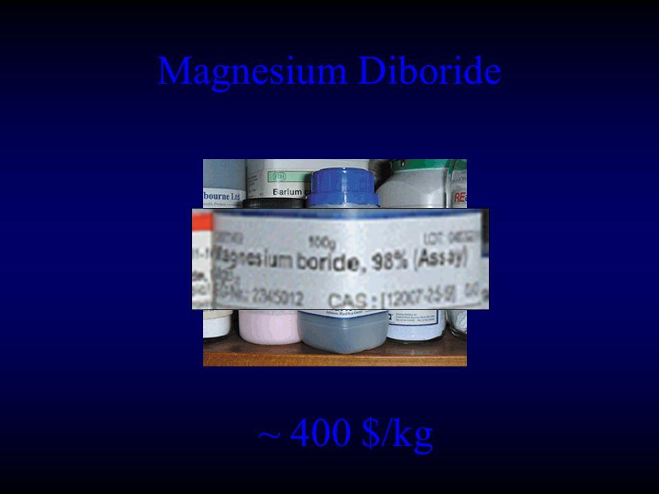 Magnesium Diboride ~ 400 $/kg