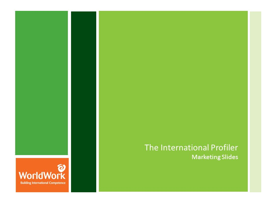 The International Profiler Marketing Slides