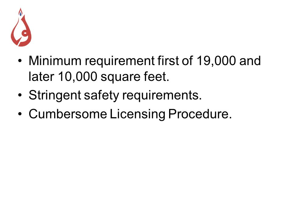The Revised Framework No minimum requirement for plot size.