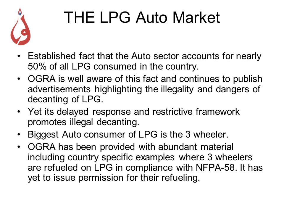 Comparison of Requirements for LPG vs CNG Refueling Stations Minimum Width of Road should be 60 feet LPG Refueling Stations cannot be located in residential/congested areas or adjacent to any building used for public gathering.