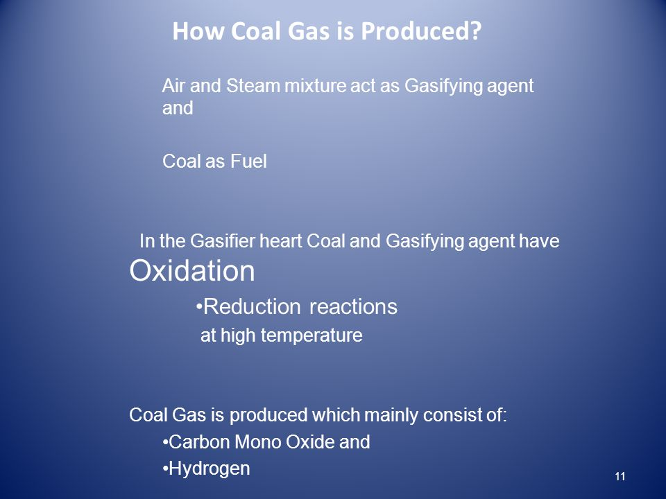 How Coal Gas is Produced.