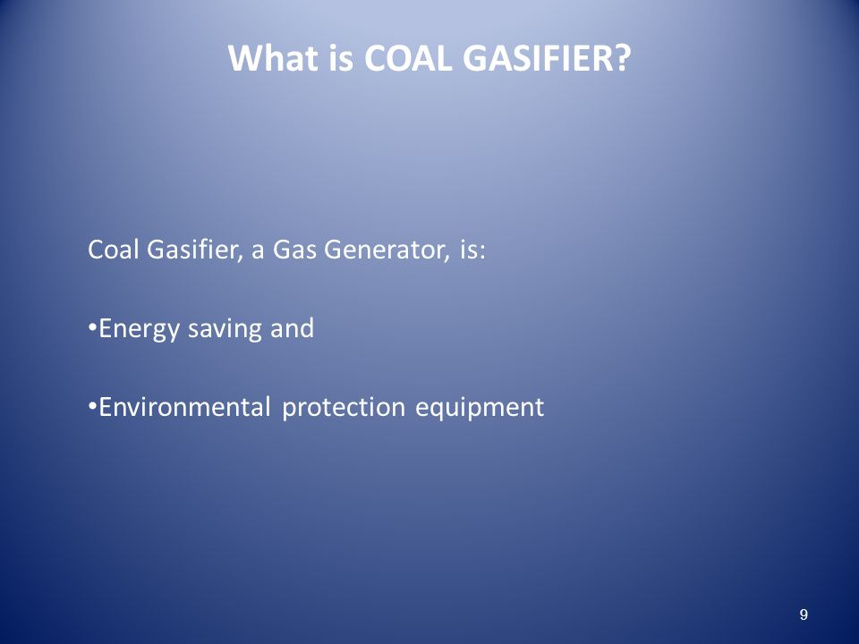 What is COAL GASIFIER.
