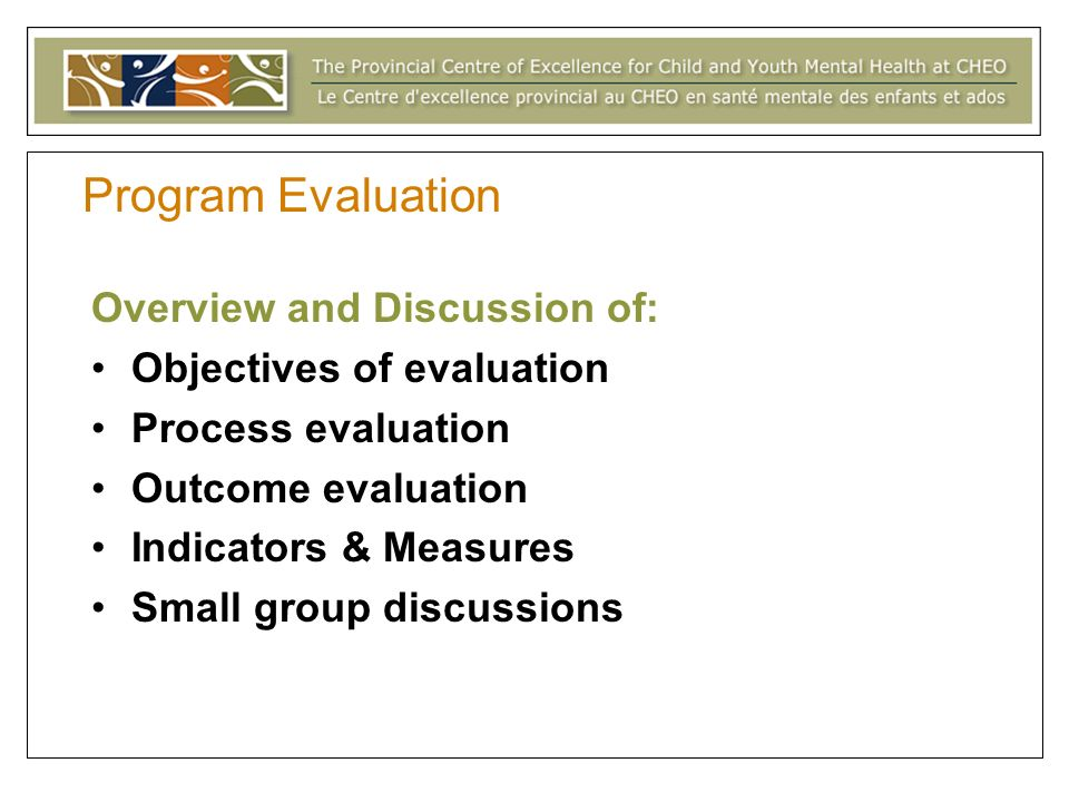 Program Evaluation: Here we go again.WHY WHY WHY do evaluation.