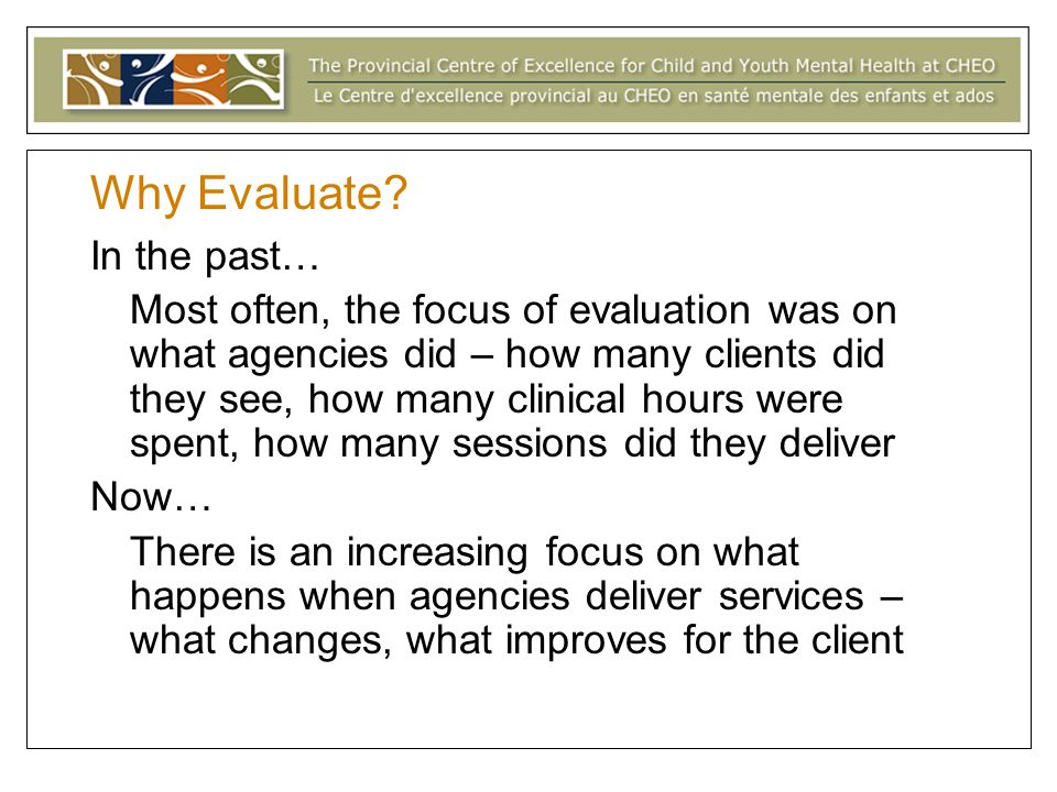 Thorny Issues in Program Evaluation ?