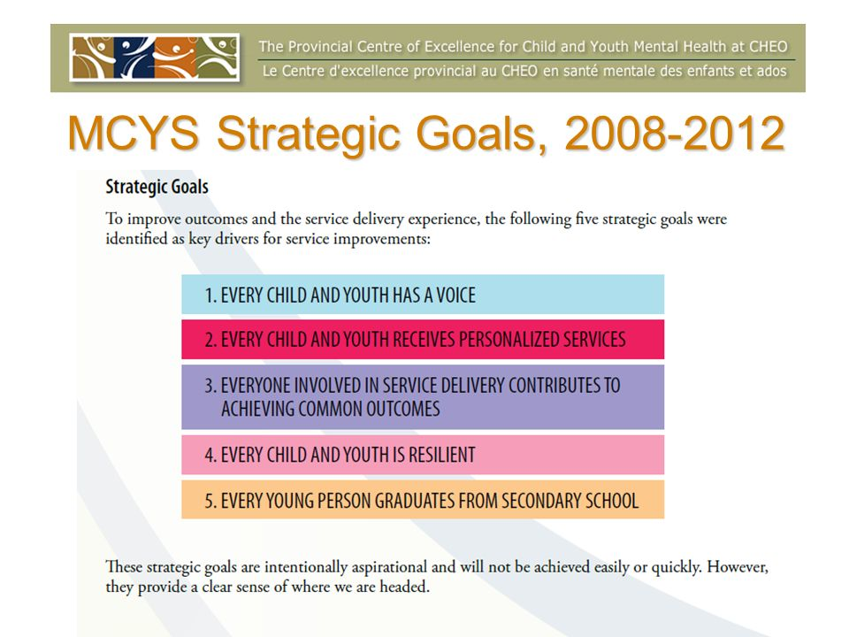 MCYS Strategic Goals,