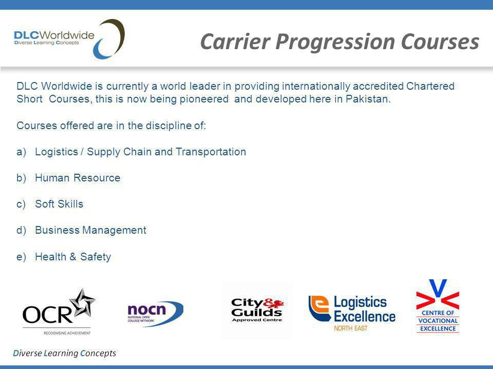 Diverse Learning Concepts Carrier Progression Courses DLC Worldwide is currently a world leader in providing internationally accredited Chartered Shor