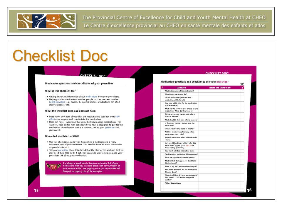 Checklist Doc